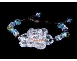 Colorful Liu li Crystal Lotus Bracelet