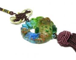Colorful Crystal Liuli Money Frog Tassel