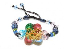 Colorful Liu li Crystal Mystic Knot Bracelet