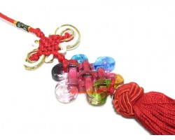 Colorful Crystal Liuli Mystic Knot Tassel