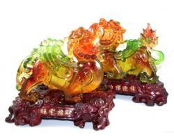 Liuli Pair of Good Fortune Pi Yao