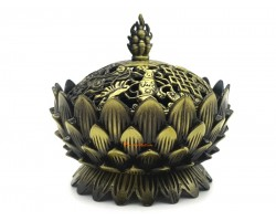 Lotus Incense Burner with 8 Auspicious Objects