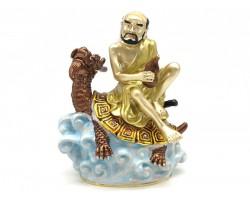 Lou Han Sitting On Dragon Tortoise