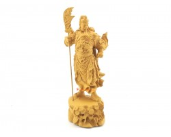 Majestic Standing Kwan Kung with Dragon Sword (7.5 inches)