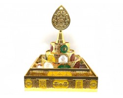 Mandala Offering with Gemstones