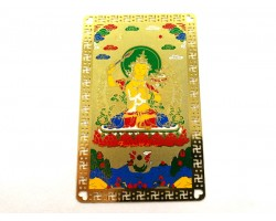 Manjushri with Flaming Sword of Wisdom Metal Card