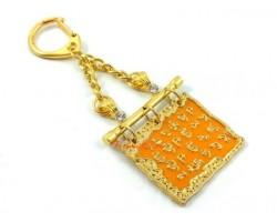 Medicine Buddha Script Keychain (Golden)