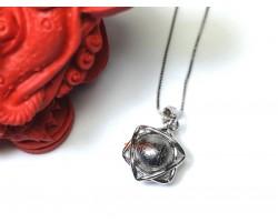 Meteorite Ball in Hexagram Pendant