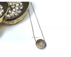 Meteorite Bead Pendant (Gold)