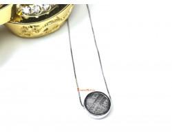 Meteorite Bead Pendant (Silver)