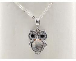 Meteorite Owl Pendant Lucky Charm