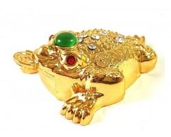 Mini Bejeweled Golden Money Frog