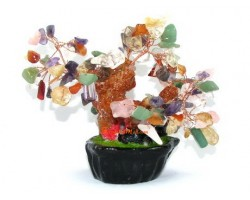 Mini Mixed Crystal Feng Shui Tree