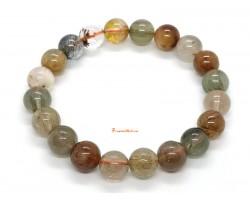 Mixed Rutilated Quartz Crystal Bracelet