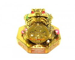 Money Frog on Bagua with Coin