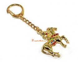 Monkey on Horse Keychain