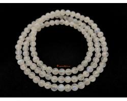 3-Round White Moonstone Bracelet (High Grade)