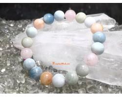 Morganite Crystal Bracelet (High Grade)
