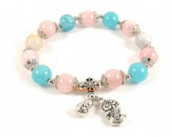Morganite Crystal bracelet with Pi Xiu