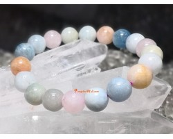 Morganite Crystal Elastic Bracelet