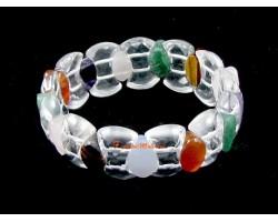 Faceted Assorted Crystal Bracelet