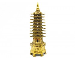 Brass Nine Level Feng Shui Pagoda (L)
