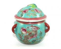 Nyonya Peranakan Colorful Porcelain Condiment Jar (small)
