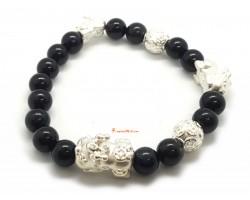 Obsidian Bracelet with 999 Silver Pi Yao Charm Bracelet