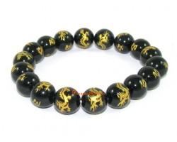 Obsidian Dragon of Success Bracelet