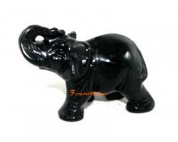 Obsidian Feng Shui Elephant
