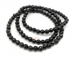 Obsidian Faceted 3-round Bracelet
