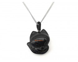 Obsidian Fox for Mesmerising Love Pendant