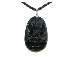 Obsidian Guardian Deity Horoscope Protector Pendant for Ox &Tiger