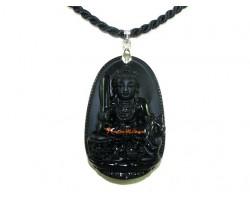 Obsidian Guardian Deity Horoscope Protector Pendant for Rabbit