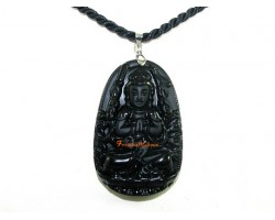 Obsidian Guardian Deity Horoscope Protector Pendant for Rat
