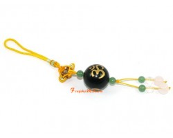 Om Ball Hanging - Obsidian