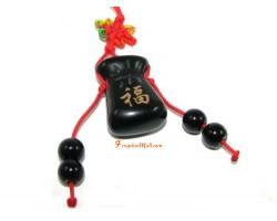 Obsidian Wealth Bag Charm