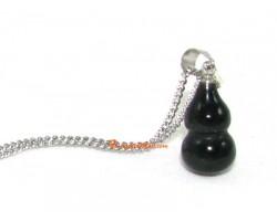 Obsidian Hu Lu  Pendant for Health Luck
