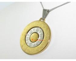 Om Mani Padme Hum Pendant with 8 Auspicious Objects Pendant