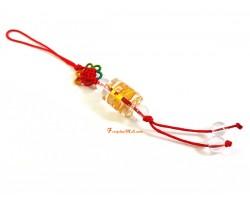 Om Mani Padme Hum Amulet Mobile Hanging (Clear Quartz)