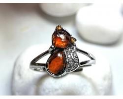 Orange Garnet Fox Ring