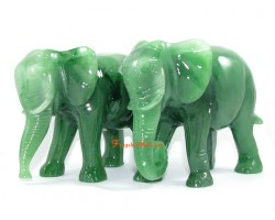Pair of Elephants with Trunks Down