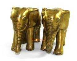 Pair of Brass Feng Shui Elephants