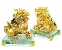 Pair of Immaculate Golden Chi Lin