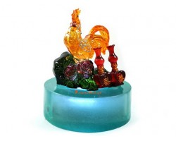 Peach Blossom Rooster for Marriage Luck