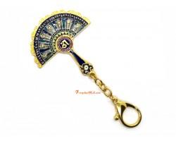 Peacock Mirror Fan Keychain