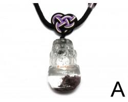 Top Grade Phantom Quartz Piyao Pendant Necklace