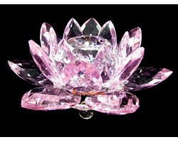 Crystal Feng Shui Lotus Flower (pink)