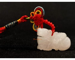Rose Quartz Pi Yao Amulet Hanging