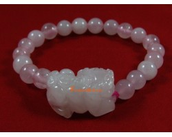 Pi Yao Protection Crystal Bracelet - Rose Quartz